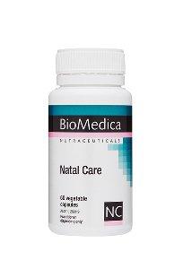 Pregnancy Vitamins Breastfeeding Supplement Natal Care 60's BioMedica
