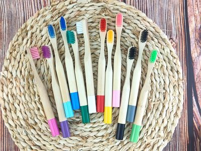 kids natural bamboo toothbrush